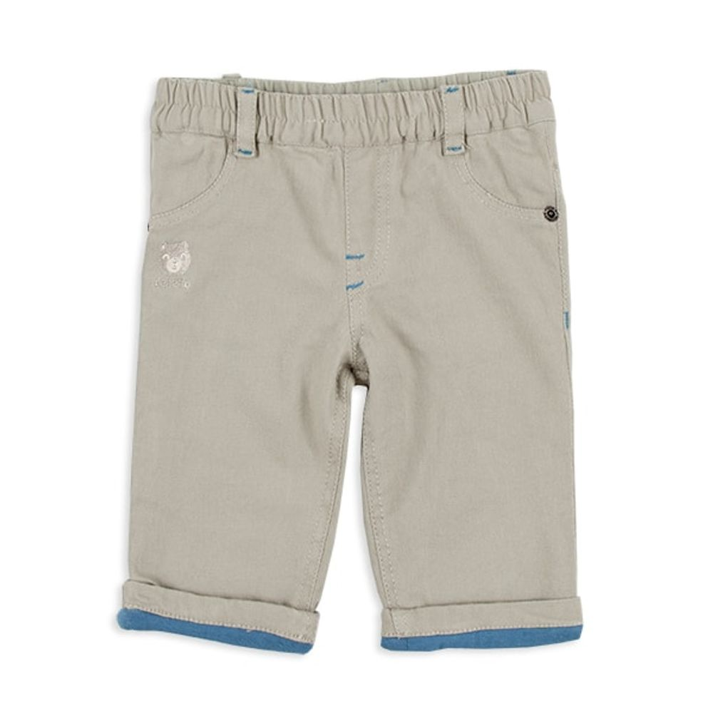Pantalon-mini-forrado-con-bordado-oso