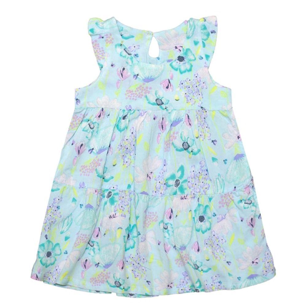 Vestido-fibrana-estampado--Flores-