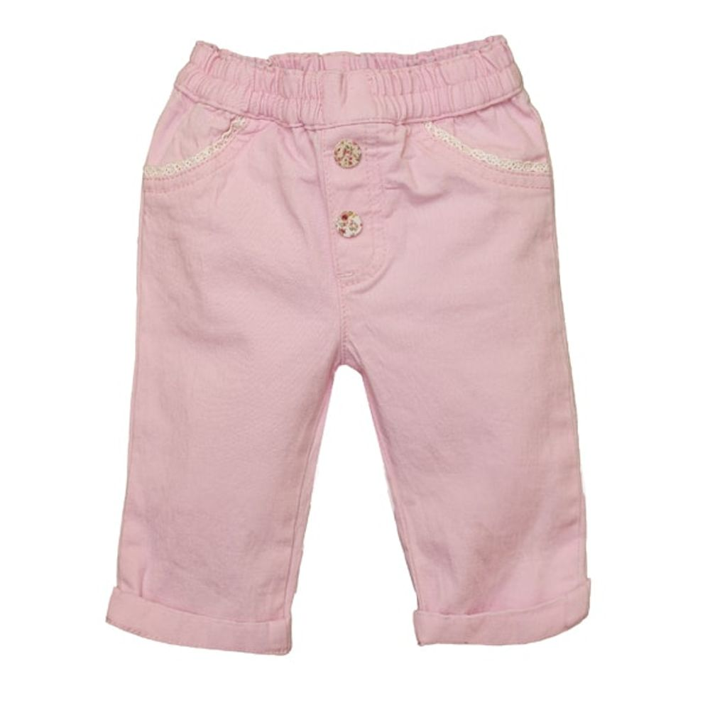 Pantalon-mini-color-con-puntillas
